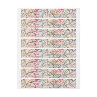 Viaje de los sellos del pasaporte pegatinas postales