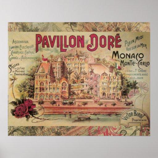 Viaje de lujo de Monte Carlo del collage de Mónaco Impresiones