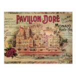 Viaje de lujo de Monte Carlo del collage de Mónaco Postal