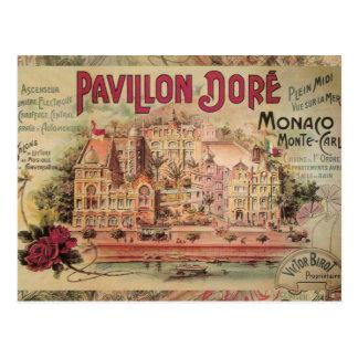 Viaje de lujo de Monte Carlo del collage de Mónaco Tarjetas Postales