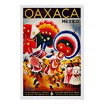 Viaje de México del festival de la danza de Oaxaca Póster