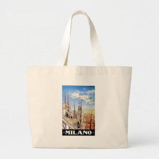 Viaje de Milano del vintage Bolsa Tela Grande