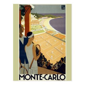 Viaje de Monte Carlo Mónaco del vintage Postal