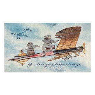 Viaje de motivación divertido del piloto del tarjetas de visita