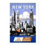 Viaje de New York City del vintage Postal