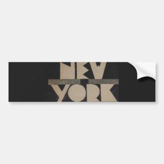 Viaje de Nueva York del vintage Pegatina De Parachoque