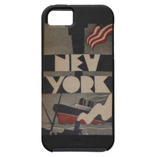 Viaje de Nueva York del vintage iPhone 5 Case-Mate Cobertura