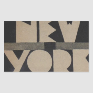 Viaje de Nueva York del vintage Pegatina Rectangular