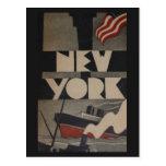 Viaje de Nueva York del vintage Postales