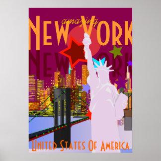 Viaje de Nueva York del vintage Póster