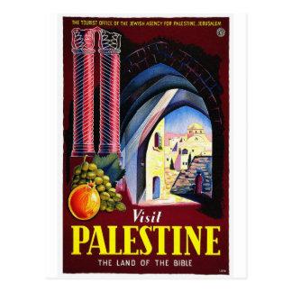 Viaje de Palestina, Jerusalén/del vintage Tarjetas Postales