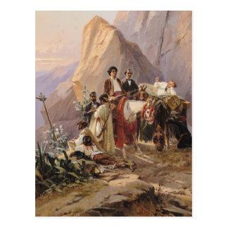 Viaje de París a Cádiz, 1846 Postal