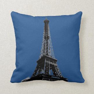 Viaje de París de la torre Eiffel del vintage Cojín