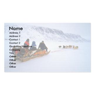 Viaje de perro de trineo, isla de Baffin del sur Tarjeta De Visita