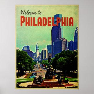 Viaje de Philadelphia del vintage Póster
