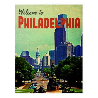 Viaje de Philadelphia del vintage Postal