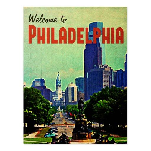 Viaje de Philadelphia del vintage Tarjeta Postal