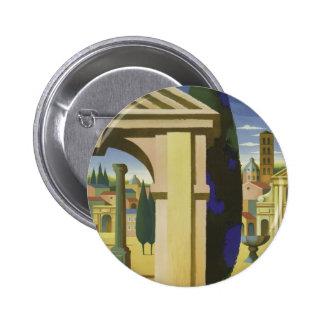 Viaje de Roma del vintage Pin Redondo De 2 Pulgadas
