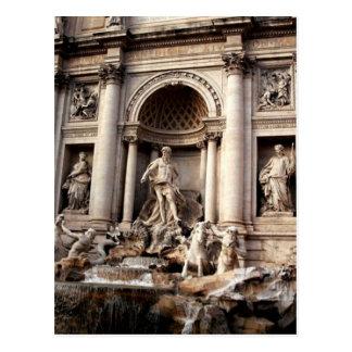Viaje de Roma Italia de la fuente del Trevi Postales