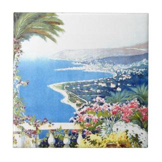 Viaje de San Remo Italia Europa del vintage Azulejo Cuadrado Pequeño