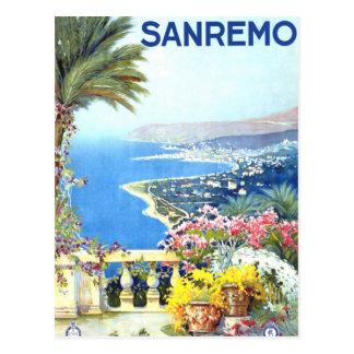 Viaje de San Remo Italia Europa del vintage Postal