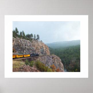 Viaje de tren del vapor a Silverton Posters