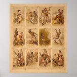 Viaje de un esclavo de una reina más llena 1863 de poster