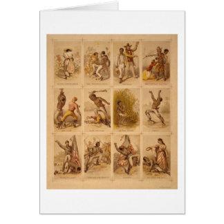 Viaje de un esclavo de una reina más llena 1863 de tarjeta de felicitación