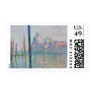 Viaje de Venecia Italia del Gran Canal de Claude Timbre Postal