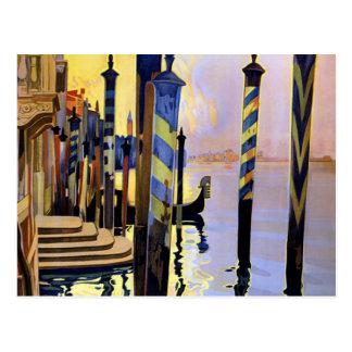 Viaje de Venecia Italia del Gran Canal del vintage Tarjeta Postal