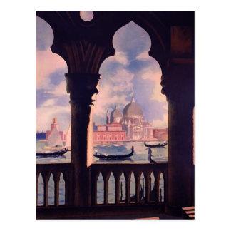 Viaje de Venecia Italia del vintage Postal