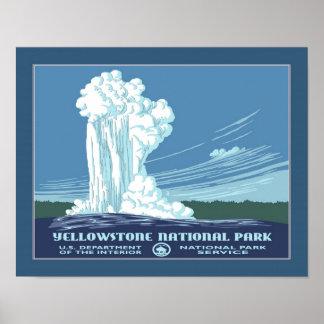 Viaje de Yellowstone WPA del vintage Posters