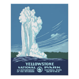 Viaje de Yellowstone WPA del vintage Impresiones