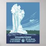 Viaje de Yellowstone WPA del vintage Póster