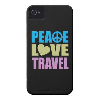 Viaje del amor de la paz Case-Mate iPhone 4 carcasa