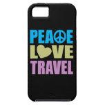 Viaje del amor de la paz iPhone 5 Case-Mate protectores