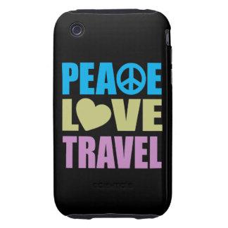 Viaje del amor de la paz iPhone 3 tough fundas
