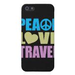 Viaje del amor de la paz iPhone 5 carcasas
