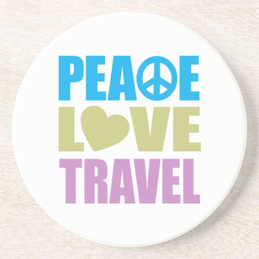 Viaje del amor de la paz posavasos para bebidas
