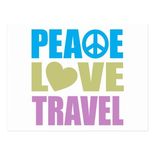 Viaje del amor de la paz postal
