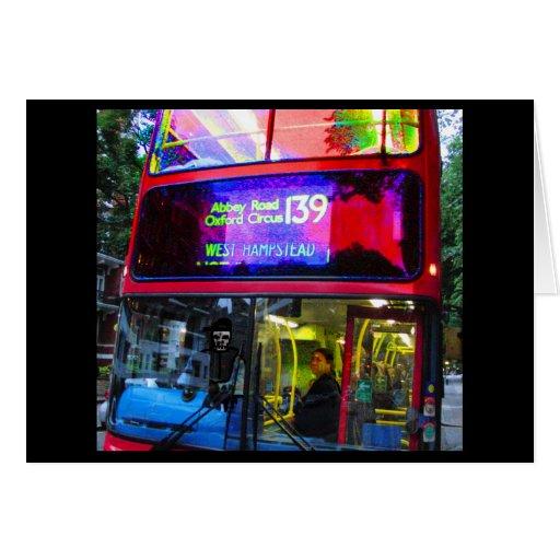 Viaje del autobús del camino de la abadía felicitacion