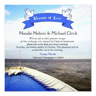 Viaje del barco de cruceros del amor el  /del boda invitación 13,3 cm x 13,3cm