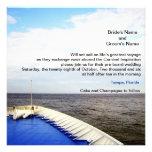 Viaje del barco de cruceros del amor el |/del boda invitaciones personales