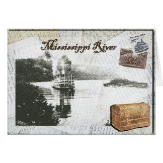 Viaje del barco de vapor en el río Misisipi Felicitaciones