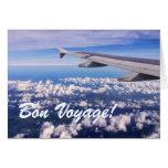 Viaje del buen viaje sobre la tarjeta de las nubes