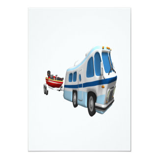 """Viaje del camino y del barco invitación 5"""" x 7"""""""