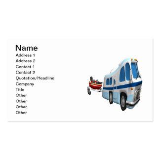 Viaje del camino y del barco tarjetas de visita