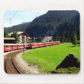 Viaje del carril a Arosa, Suiza Alfombrilla De Raton