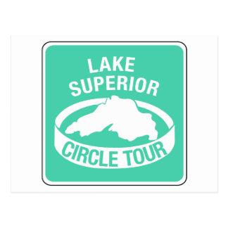 Viaje del círculo del lago Superior, señal de Postal