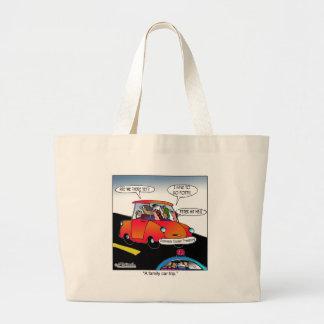 Viaje del coche familiar bolsa lienzo